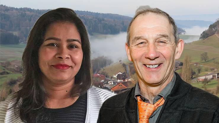 Kaniz Fatema Khan und Heiri Rohner (rechts).