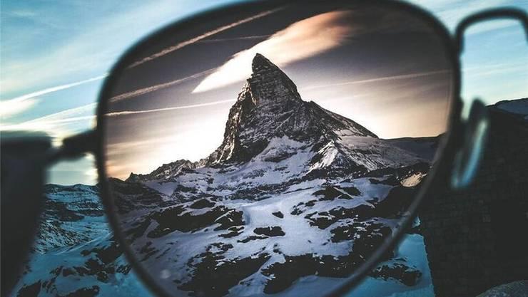 Gehört zum bevorzugten Motiv der beiden Cousins: Das Matterhorn.