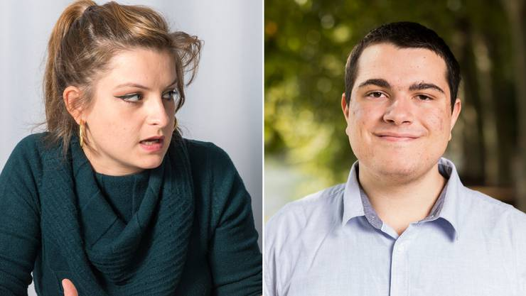 Diametral unterschiedlicher Meinung: Mia Jenni (SP) und Andrea-Michael Vecchio (EDU).