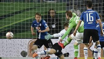 Arnold schiesst gegen das überforderte Bielefeld sein zweites Tor