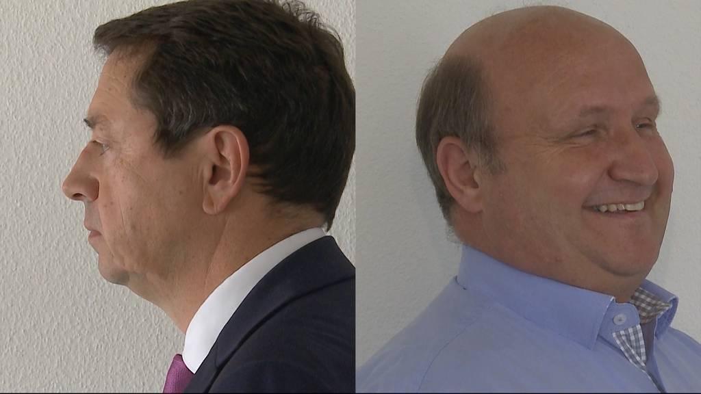 Müller (CVP) und Hodel (FDP) dürften sich Kopf-an-Kopf-Rennen liefern