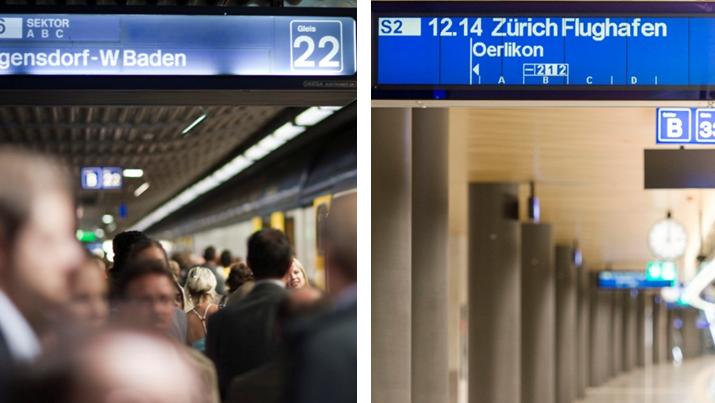 Bald werden alle Fallblatt-Anzeigen (links) den LED-Anzeigen (rechts) weichen müssen.