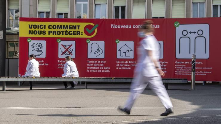 Weniger Zeit für Pausen: Gesundheitspersonal in Genf (Symbolbild).