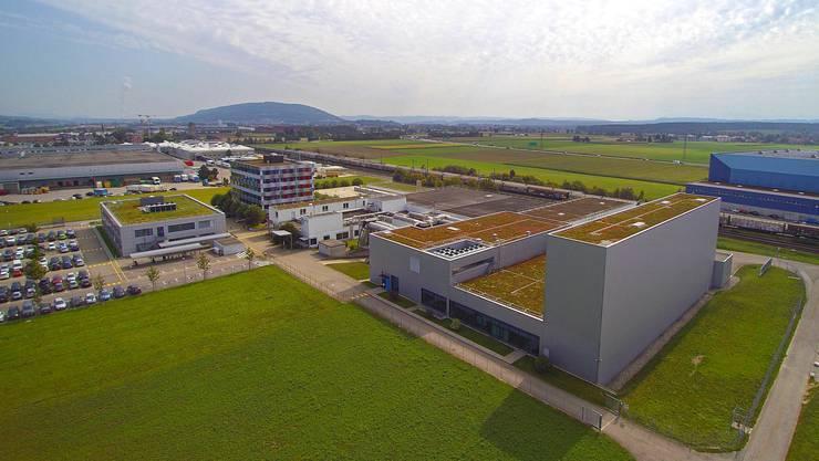 Benjamin Weinmann: «Egerkingen ist nur ein kleines Puzzlestück im 90-Milliarden-Konzern Nestlé mit seinen insgesamt 330 000 Mitarbeitenden.» Blick auf das Firmengelände der Galderma Spirig AG in Egerkingen.