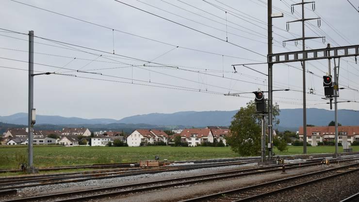 Im Rennen: Areal beim Bahnhof Möhlin. Bild: nbo