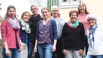 Die Vereinsmitglieder (von links): Barbara Baschnagel, Präsidentin Verena Studer, Irène Candido, Claudia Schneider, Nina Meier, Theres Tschanz, Irene Kurth und Mireille Schibler.
