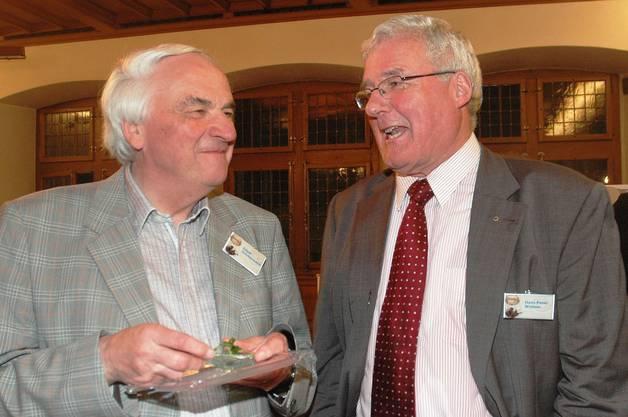 Die Journalisten-Urgesteine Edgar Zimmermann (links) und Hans-Peter Widmer