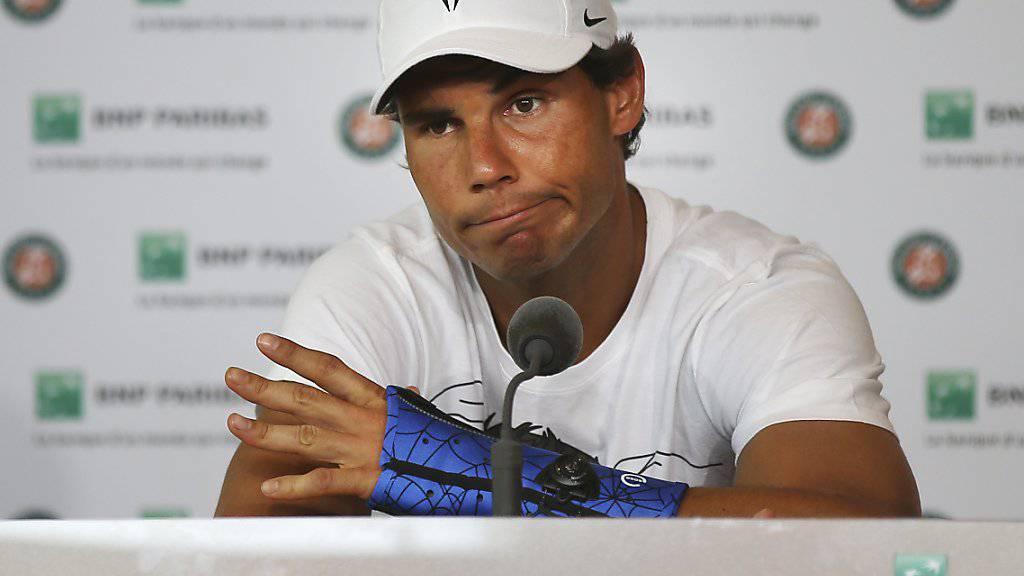 Rafael Nadal zeigt Enttäuschung und Resignation