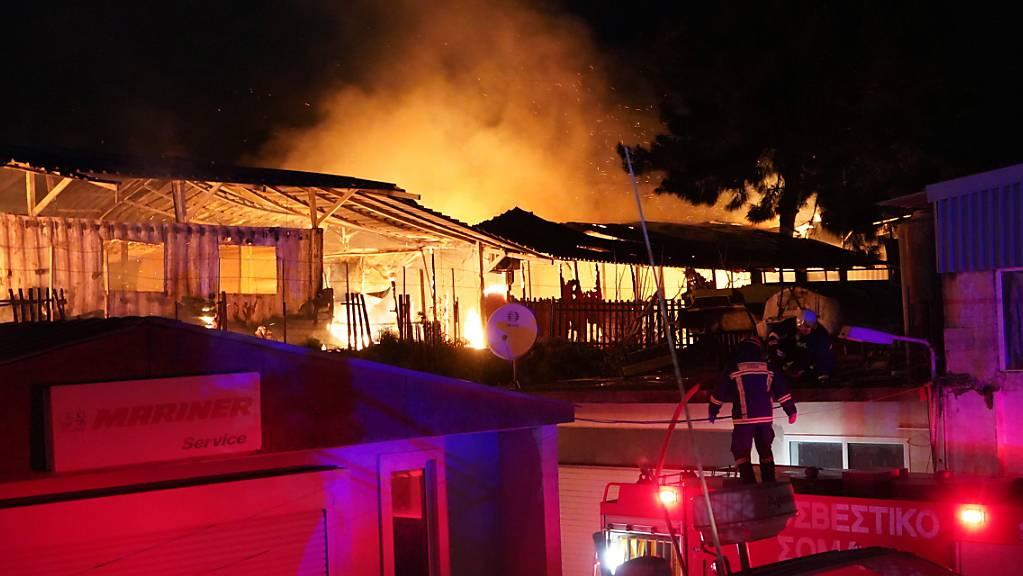 Das Gemeinschaftszentrum «One Happy Family» war durch das Feuer am 7. März zerstört worden. (Archivbild)