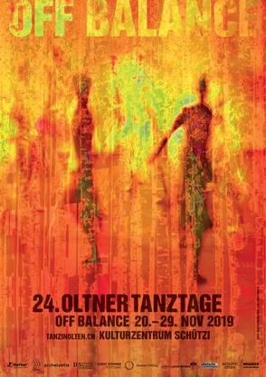 """Die Künstlerin Anne-Marie Grenacher kreierte das Plakat der 24. Oltner Tanztage """"Off Balance"""" 2019"""
