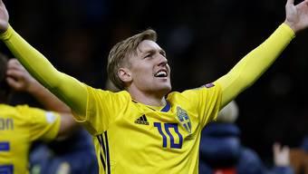 Schweden mit Emil Forsberg will wieder einmal siegreich in eine WM starten