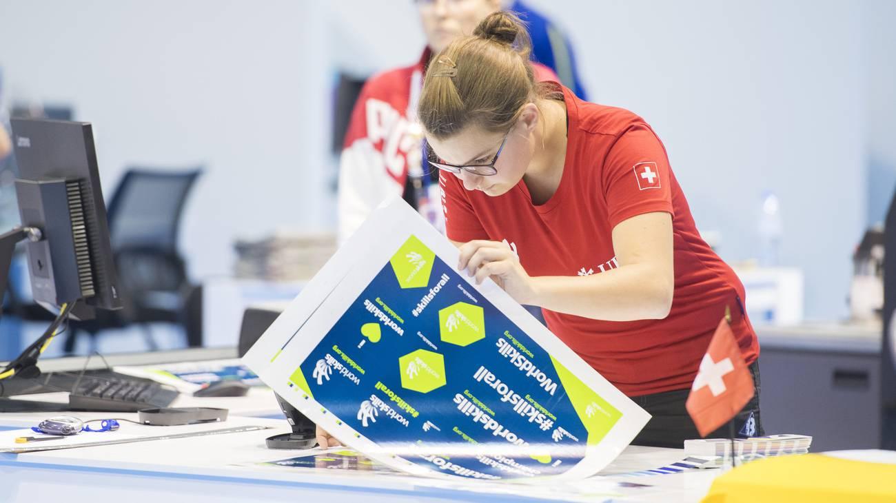 Drucktechnologin Janine Bigler aus Lenzburg holt Bronze