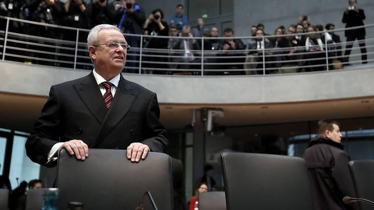 Das US-Justizministerium beschuldigt Volkswagens ehemaligen Konzernchef Martin Winterkorn der Mittäterschaft im Abgasskandal. (Archivbild)
