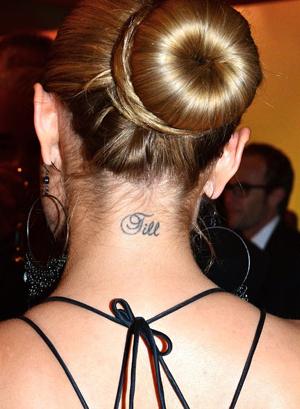 Auch im Nacken hat sich Sophis ihren Ex verewigen lassen. gettyImages