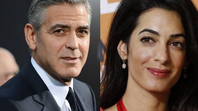 Verlobt: George Clooney und Amal Alamuddin (Archiv)