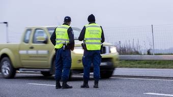 Angehörige der Kantonspolizei Aargau im Einsatz.