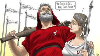 So illustriert unser Karikaturist Silvan Wegmann das Thema.