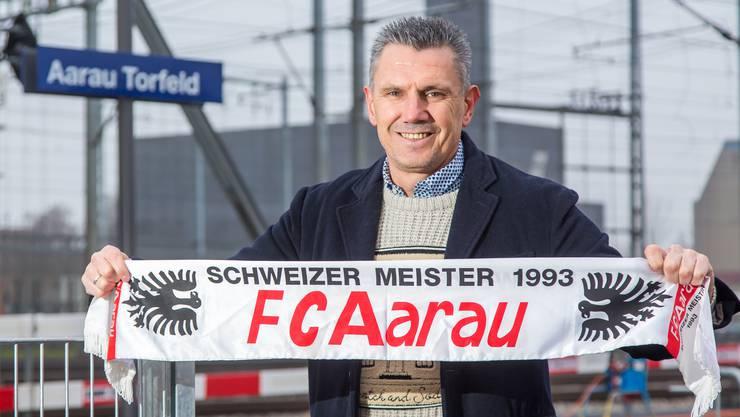 Petar Aleksandrov wünscht sich zum Geburtstag ein neues Stadion im Aarauer Torfeld Süd.