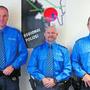 Diese Polizisten wurden befördert: v.l. Mark Eberling (Feldweibel), Marc Eichenberger (Wachtmeister) und Patrick Suter (Korporal).