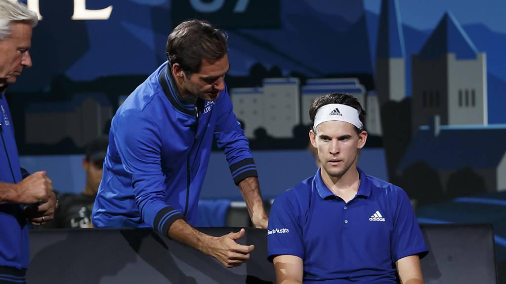 Wiederholung in Boston: Wie 2019 in Genf werden Captain Björn Borg, Roger Federer und Dominic Thiem am Laver Cup im Team Europa dabei sein.