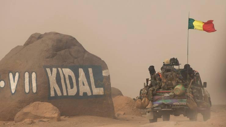 Malische Truppen unterwegs im Norden des Landes.