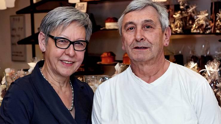 Seit 40 Jahren gibt es die Confiserie Krattiger. Jetzt wollen Maja und Kurt Krattiger mehr Zeit für anderes. Judith Hirsbrunner