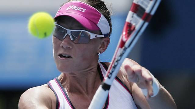 Samantha Stosur spielt gegen die Schweiz