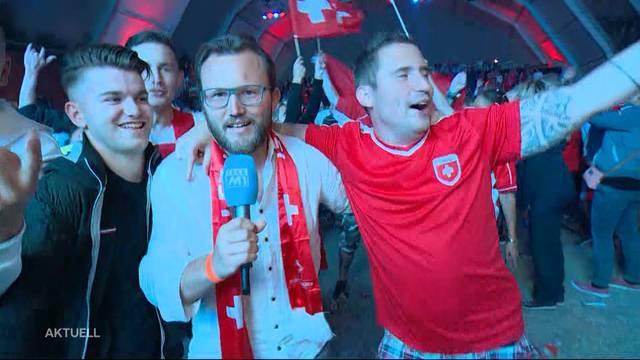 Erlösung in letzter Minute:  Die Schweiz besiegt Serbien mit 2:1