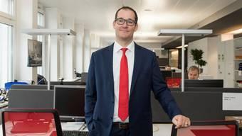 Im neuen «Open Workspace» des IT-Unternehmens Avectris im ABB-Areal hat auch CEO Thomas Wettstein keinen eigenen Arbeitsplatz.Alex Spichale