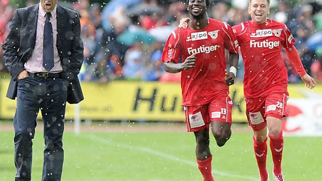Während Bellinzona trauert, jubelt der FC Thun