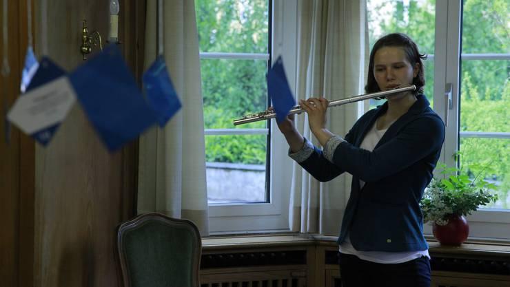 Chantal Gautschi an der Querflooete