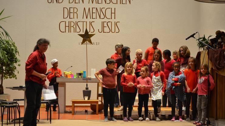 Barbara Schäfer mit dem Chor