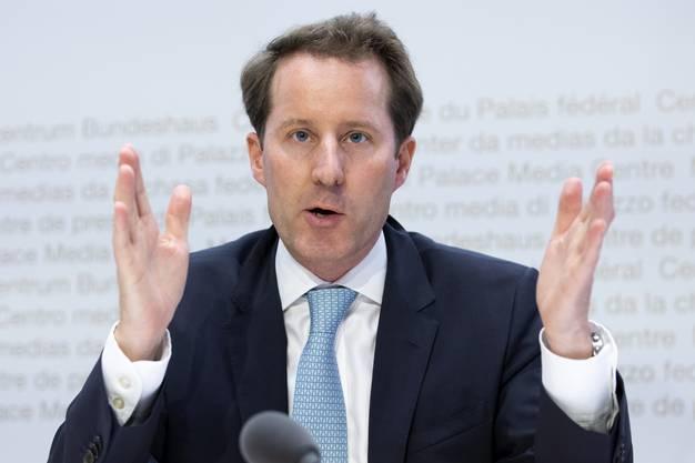Thomas Aeschi, Fraktionspraesident SVP und Mitglied der Gesundheitskommission SGK