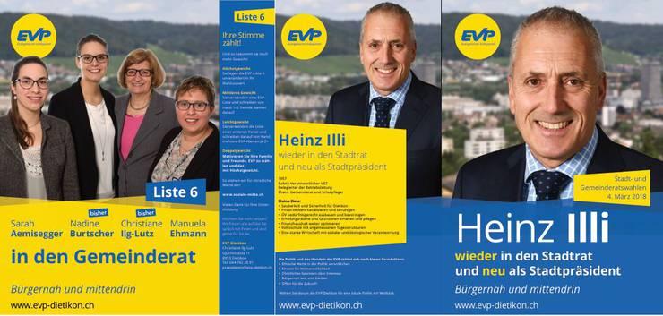 (1) Die Kandidatinnen und Kandidaten der EVP Dietikon für die Gemeinderats- sowie Stadtrats- und Stadtpräsidentenwahlen vom 4. März 2018
