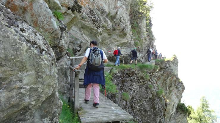 Knebelbrücke 1622 hier man einen wundervollen Blick ins Rhonethal und Brig