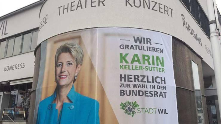 """Freude in Wil: Die Stadt feiert """"ihre"""" Bundesrätin. Die Beizenszene der Stadt prägte das Leben von Karin Keller-Sutter."""