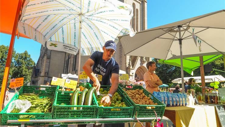 Am Matthäusmarkt finden die Quartierbewohner fast nur regionale Produkte.