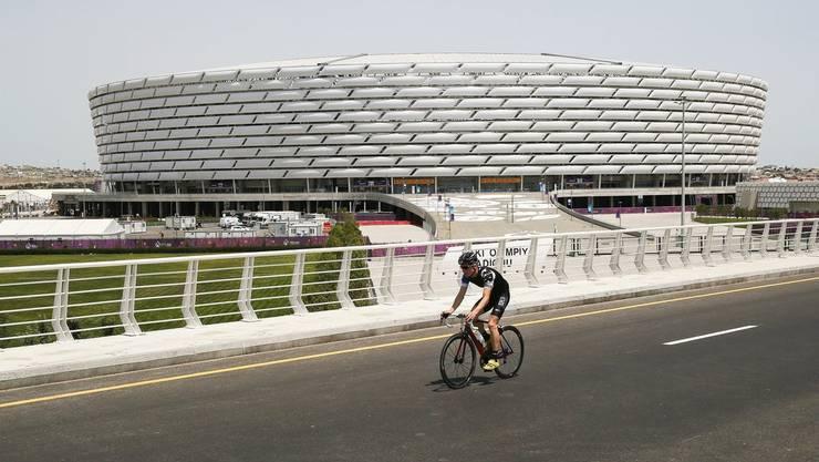 Zwei Spiele wird die Schweizer Nati im Olympiastadion von Baku austragen.