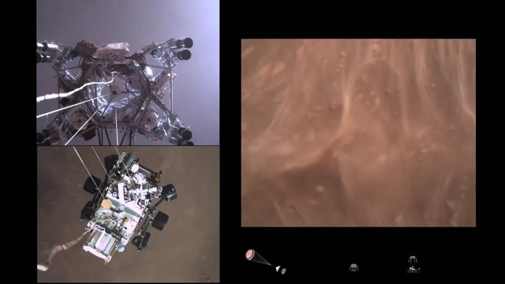 Video zeigt spektakuläre Landung von Mars-Rover