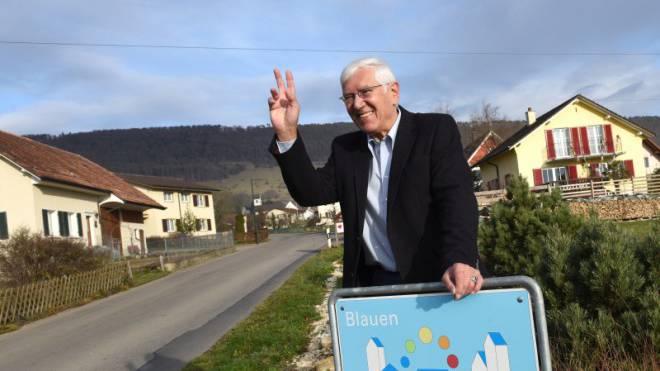 Dieter Wissler, Gemeindepräsident von Blauen, verkauft seine Gemeinde mit dem Unesco-Label.  Foto: Juri Junkov