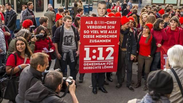 Das Volk sagte Nein zur 1:12-Initiative (Archiv)