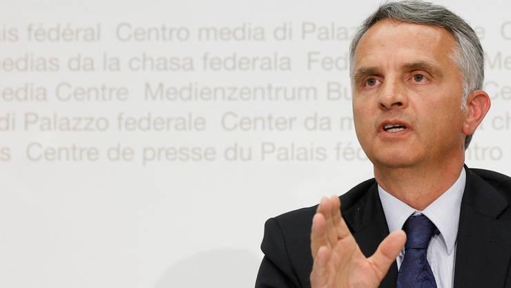 Werbung fürs Reformprojekt: Didier Burkhalter.  KEY