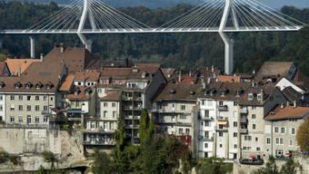 Die Poyabrücke entlastet Freiburgs Altstadt vom Verkehr