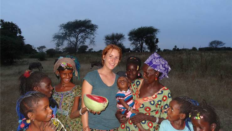 Corinne Hersche in Senegal. ZVG