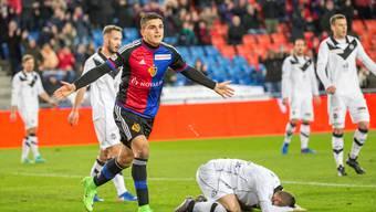 Der FCB-Norweger Mohamed Elyounoussi startet beim 4:0-Sieg gegen Lugano mit einem lupenreinen Hattrick in die Rückrunde.