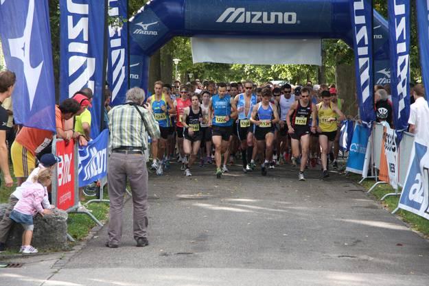 Elite am Start des Weissensteinlaufs 2012