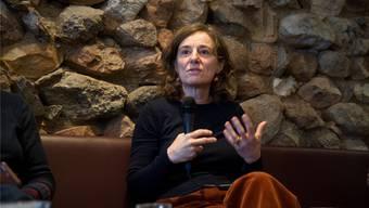 Regieassistentin Giorgia de Coppi beim morgendlichen Gespräch während des Film-Brunchs über ihre Arbeit. hjs