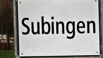 Ortsschild Subingen