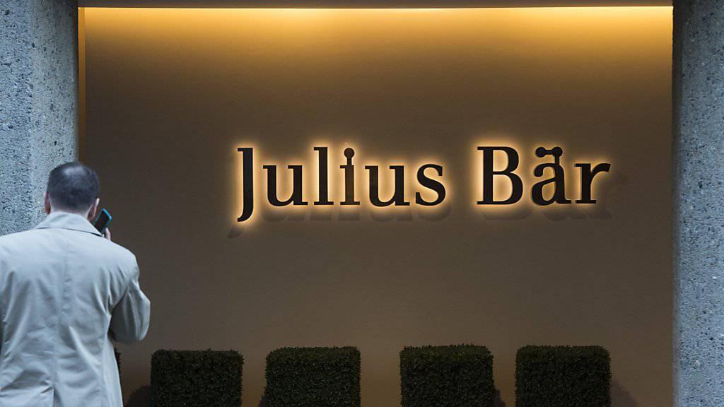 Julius Bär mit solidem Jahresergebnis: Der um Sondereffekte bereinigte Konzerngewinn fällt fast gleich hoch aus wie im Vorjahr. (Archiv)