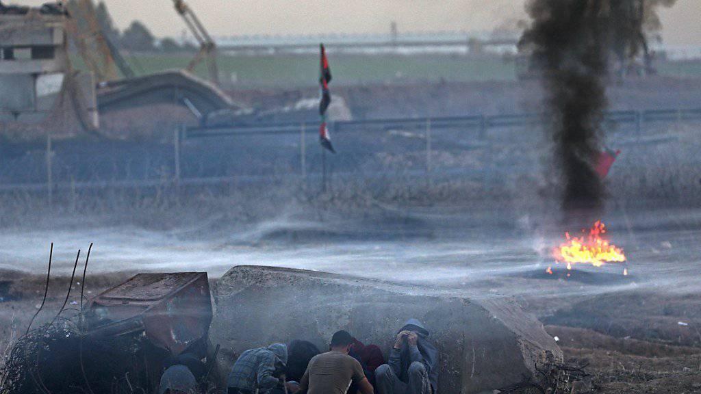Im Gazastreifen kommt es zu Zusammenstössen zwischen der israelischen Armee und palästinensischen Demonstranten.